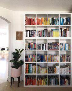 Kallax on top of Kallax Ikea Kallax Bookshelf, Bookshelves, Bookshelf Styling, Ikea Shelves, Bookcase, Bookshelf Inspiration, Room Inspiration, Study Room Decor, Ikea Fans