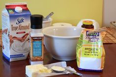 In a bowl mix together all these ingredients for my sugar free homemade bread