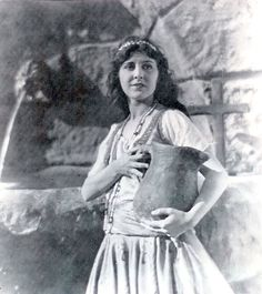 """Patsy Ruth Miller - As Esmeralda In The 1923 Movie Version Of """"The Hunchback of Notre Dame"""" Starring Lon Chaney, Sr."""