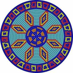 """The location where building and construction meets style, beaded crochet is the act of using beads to decorate crocheted products. """"Crochet"""" is derived fro Tapestry Crochet Patterns, Crochet Stitches Patterns, Crochet Motif, Diy Crochet, Beading Patterns, Native Beadwork, Native American Beadwork, Mochila Crochet, Mandala"""
