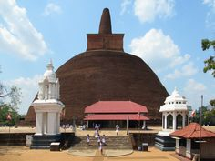 In ancient times a monastery of monks centered on the century BC Abhayagiri Dagoba in Anuradhapura, Sri Lanka. In Ancient Times, Monuments, Sri Lanka, Taj Mahal, Cities, Architecture, City, Architecture Illustrations, Archaeological Site