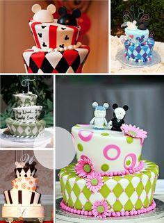 Disney wedding mad hatter cakes