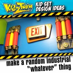 "Make a random industrial ""whatever"" thing it's a cool & cheap wall element. - foam pool noodles - 2, wedge-style automotive cup holders... - INSTAGRAM VIDEO - (click to play) -  for full description follow Instagram Link -  : #kidsetdesign #kidmin #kidschurch #vbs #kidsministry"