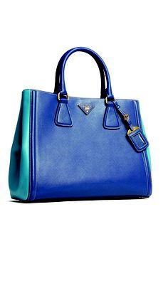 Prada bold and blue for spring