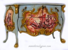 Chinoiserie Commode - Miniature Dollhouse Furniture by June Clinkscales | Chests