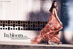 In Bloom: #FeiFeiSun by #NathanielGoldberg for #VogueChina March 2015