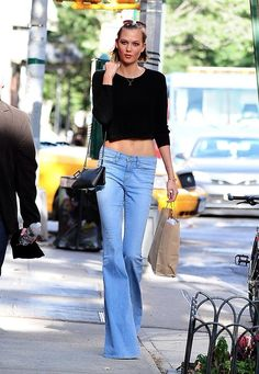 Bell bottoms and crop tops, what could be better?