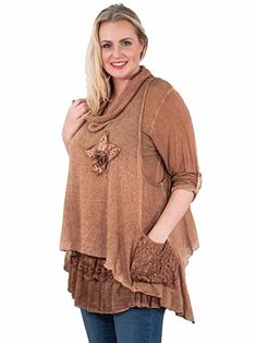 Ladies Womens Italian Lagenlook Quirky Layering 2 Piece Long Sleeve Knitted Cowl Neck Mohair Wooden Button Tunic Dress One Size Plus 12-22 (One Size, Burnt Orange): Amazon.co.uk: Clothing