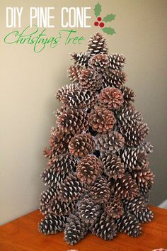 Louisiana Bride: How to Make a Pine Cone Christmas Tree