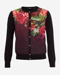 5eae48a80df05 Juxtapose Rose cardigan - Black