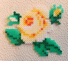 Hama beads rose