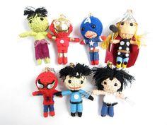 Superhero string dolls!