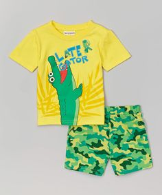 3c541c0fa Another great find on Aspen Gold 'Later Gator' Tee & Camo Shorts - Infant &  Toddler by Buster Brown