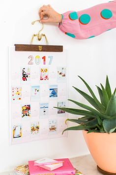 DIY Printable Photo Wall Calendar