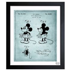 Mickey Mouse 1930 Framed Art Print.
