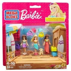 Barbie Beach Vacation by Mega.Bloks (Multi-Pack) NEW in Package Age 4-12