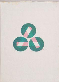 Karel Martens  Untitled, circa 1994  letterpress monoprint on wax paper  9 ¾ × 13 ¾ in. (249 × 349 mm)