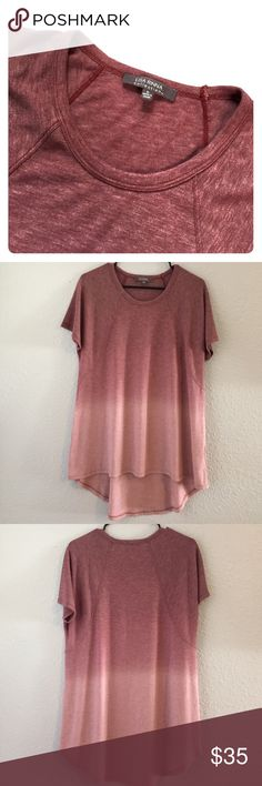 Lisa Rinna ombré top One of the softest shirts I've ever owned! High low hem. No flaws! Like new condition. ❌ no trades ❌ Lisa Rinna Tops Tees - Short Sleeve
