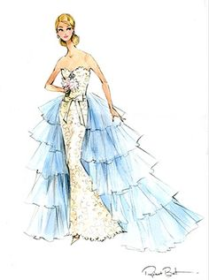 Image result for oscar de la renta design sketches