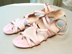 Pink ballet Balenciaga flats for beneath your gown.