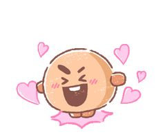 LINE Stickers UNIVERSTAR Sweet returns in a soft and fluffy explosion of cuteness! Sweeten your chats with these lovely pastel stickers.,Stickers,Animated Stickers,Animated Stickers,Example with GIF Animation Wattpad, Anime Gifs, Dibujos Cute, Adolescents, Bts Drawings, Line Friends, Bts Chibi, Bts Fans, Line Sticker