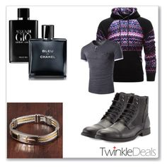"""""""& TwinkleDeals-Men Style & 34/I"""" by nura-akane ❤ liked on Polyvore featuring Robert Wayne, Giorgio Armani, Chanel, men's fashion and menswear"""