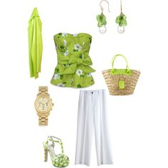 Cool, Crisp Summer Green., created by kbrand on Polyvore