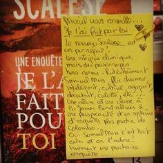 Je l'ai fait pour toi de Laurent Scalese @editionsbelfond  Coup de cœur de @murielgodefroi librairie Cultura à Trignac #book #livre #lespetitsmotsdeslibraires #polar