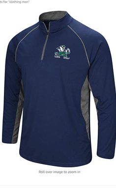 PERFECT LIGHTWEIGHT QUARTER ZIP for the College Basketball, Football, Baseball fan. Sizes include Medium, Large, XL and 2X. This LIGHTWEIGHT, YET DURABLE Pullover in Official Team Colors features a Training-Inspired 100% Polyester fabric that will provide comfort while watching your favorite university or stretchy flexibility for working out. Featuring a rubberized Team Logo on aTeam Color body with contrasting heathered grey piping and sides.- This outerwear is STYLISH and fan approved. Amazon Clothes, Notre Dame Football, Football Outfits, Cool Fabric, College Basketball, Alabama Crimson Tide, Pullover, Zip, Stylish