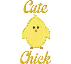 INSTANT DOWNLOAD Two Pack Cute Chick Machine by EmbroideryFirst