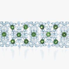 Bejeweled blossoms flourish amid the splendor of a garden court. Tiffany & Co