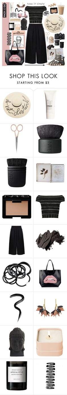 """""""Pack and Go: Labor Day"""" by bklana ❤ liked on Polyvore featuring Eugenia Kim, H&M, Anastasia Beverly Hills, NARS Cosmetics, FOSSIL, The Body Shop, Alexander McQueen, BIG PARK, Bobbi Brown Cosmetics and RED Valentino"""