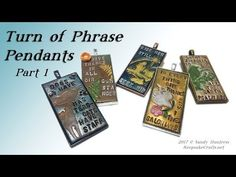 Turn of Phrase Pendants Part 1 of 2-Polymer Clay Jewelry Tutorial - YouTube