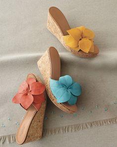 Cara Floral Wedge Sandals