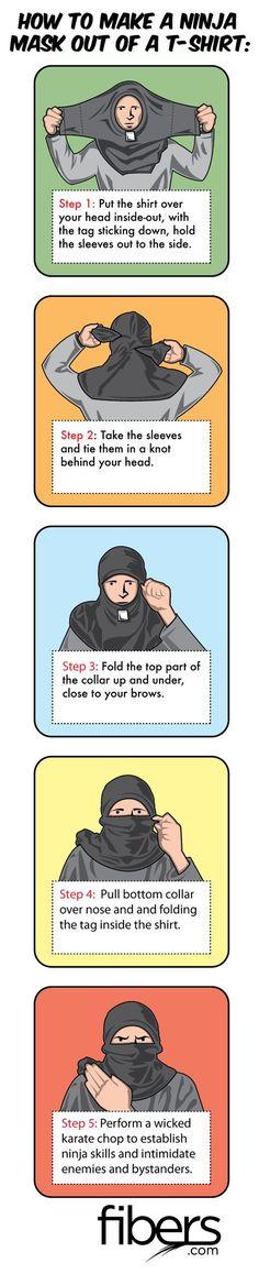 Simple no-sew ninja mask