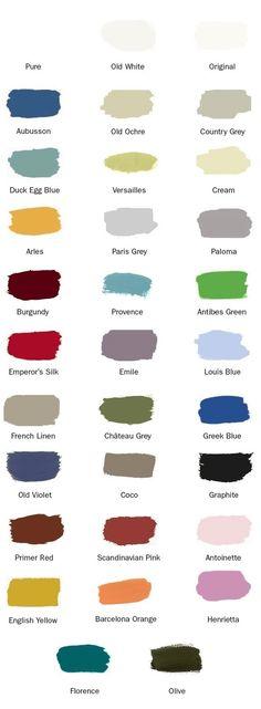 Annie Sloan Paint Colours