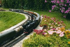 pass at once. Its shows some of the scope of a garden railway line Yahoo Images, Google Images, Garden Railroad, Train Layouts, Image Search, Sidewalk, Garden Train, World, Trains