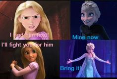 Elsa can just freeze her, and win. But if they had a fist fight, I still thik Elsa would win.
