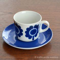 ARABIA [ Stencil ] coffeecup & saucer