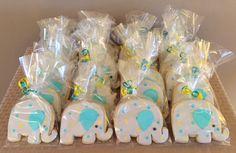 Elephant Sugar Cookies - Teal
