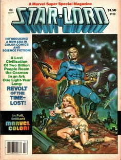 Marvel Comics Super Special Featuring Star-Lord, Winter cover by Earl Norem and Peter Ledger. Comic Book Covers, Comic Books Art, Comic Art, Book Art, Character Drawing, Comic Character, Gi Joe, Galaxy Comics, Comics Universe
