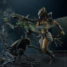 (Science) Fiction, Fantasy, & Adventure AVP Part 3: She-Wolf Predator vs Queen Alien *BONUS Pics Added* - OSW: One Sixth Warrior Forum