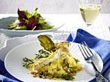 Gebratenes Zanderfilet mit Sauce vierge auf Polenta Rezept Bernaise, Cabbage, Eggs, Meat, Chicken, Vegetables, Breakfast, Food, Polenta Recipes
