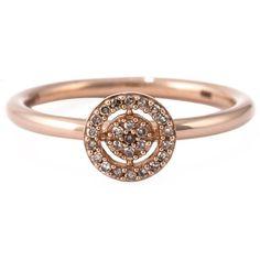 Astley Clarke mini 'Icon Aura' diamond ring ($565) ❤ liked on Polyvore featuring jewelry, rings, metallic, diamond rings, band rings, round diamond ring, astley clarke and astley clarke jewelry