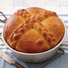 During Easter, bread takes many decorative shapes and forms; one of the most beautiful is the egg- and butter-rich Paska, traditionally eaten in Eastern European countries.