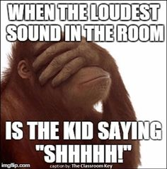 the loudest sound in the room...***facepalm*** #teacherproblems