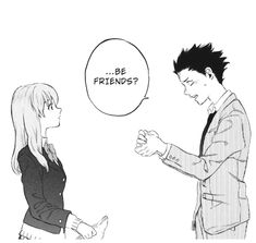 Koe no katachi (a silent voice)❤️ Haikyuu Manga, Anime Manga, Anime Art, Koe No Katachi Anime, A Silent Voice Manga, The Garden Of Words, L Death Note, Death God, Friend Anime
