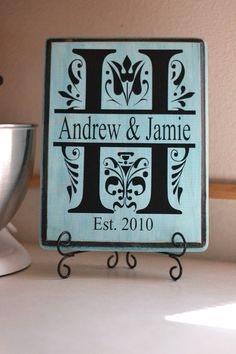 Personalized Monogram Wooden Plaques by JHuntCreations on Etsy, $15.00