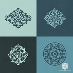 For a beautiful stencil project that showcases a variety of intricate Moroccan designs, use our Arabesque Ornament CraftStencil Set. Paint these exotic pattern
