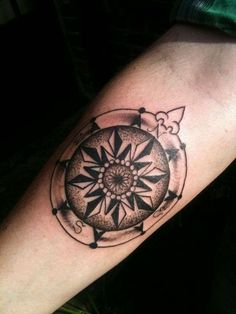 Compass tattoo #tattoo #tattoos #tattoodesign #bodyart